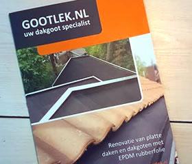 afbeelding van het project: Gootlek.nl folder